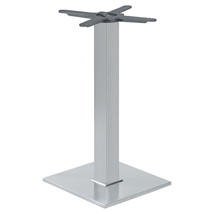 Inox lisbonne socle 40x40 euresco euresco for Table exterieur 40x40