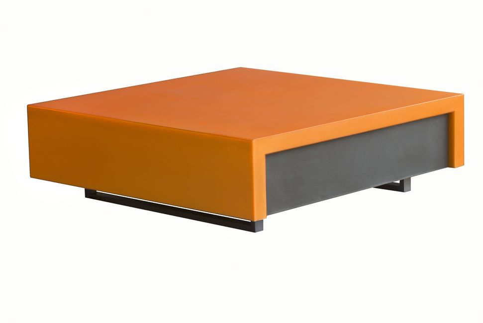 table basse orange euresco euresco. Black Bedroom Furniture Sets. Home Design Ideas